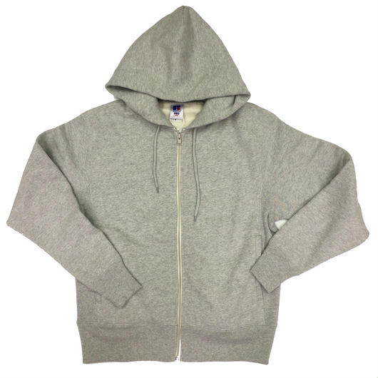 "RUSSELL ""PRO COTTON"" ZIP UP HOODIE [H.GRAY]  RC-17FW701"