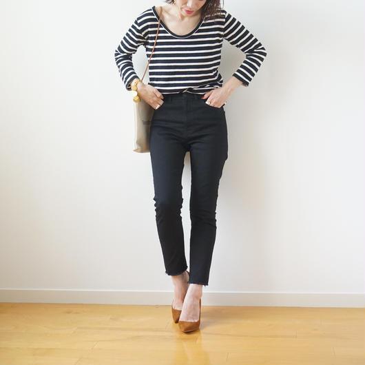 【受注販売第2弾】beautiful line high west black skinny pants