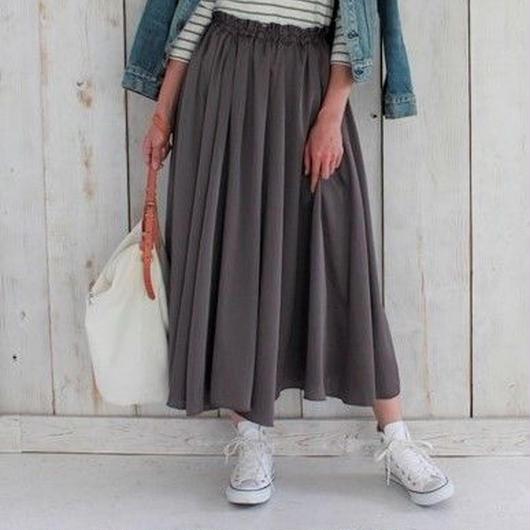 luster middle length skirt