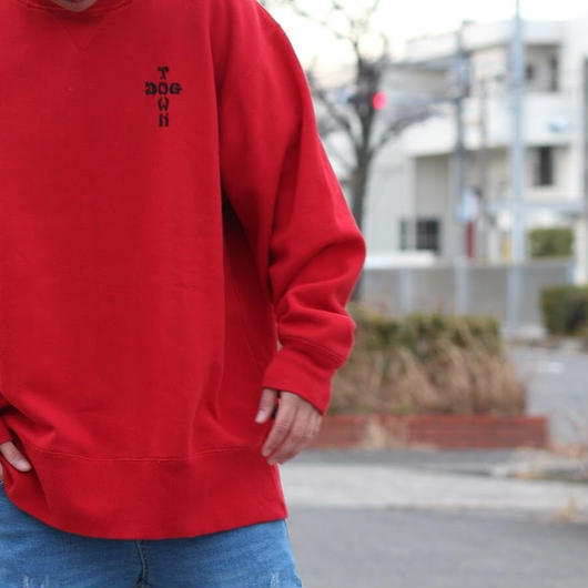 Dog Town Crew Sweat-red-