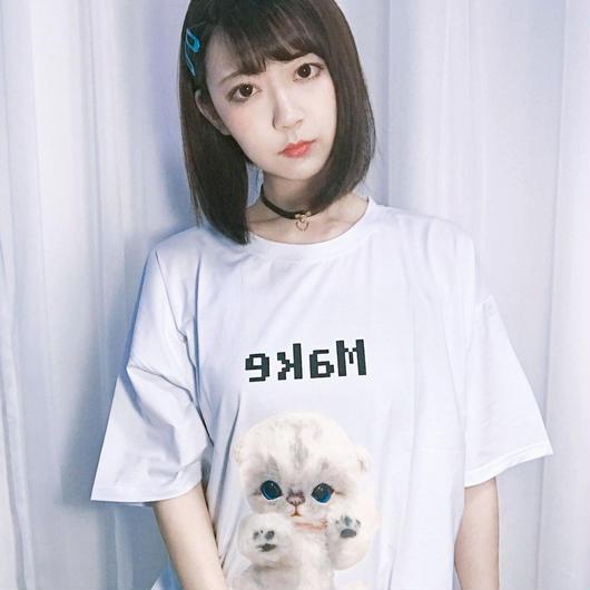 GREEDY GARDEN-ぬいぐるみネコT-シャツ