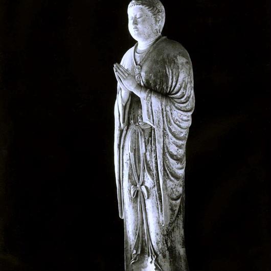 ハイブリッド仏像ポスター「東大寺月光菩薩」(全身)四つ切サイズ