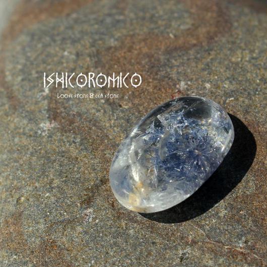 デュモルチェライト入り水晶 (ブラジル産) -d001