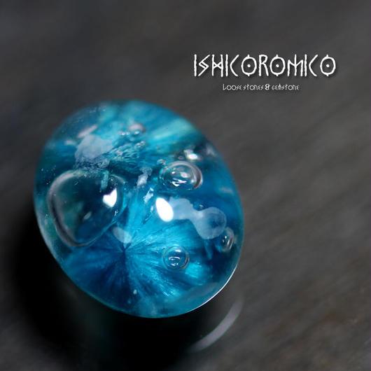 カバンサイト封入水晶 (ロミ子の石コロ研究所製作w