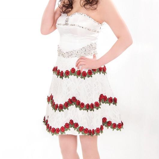 Aライン 薔薇 ビジュードレス