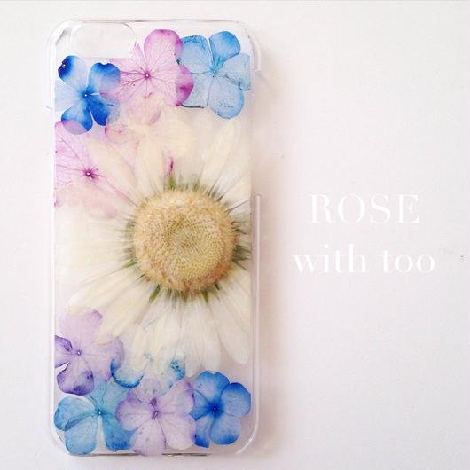 iPhone6/6s用 フラワーアートケース 押し花デザイン 1004_1