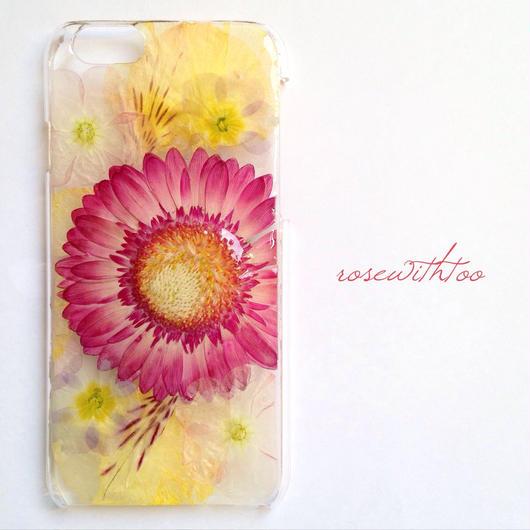 iPhone6用 フラワーアートケース 押し花デザイン 0318_5