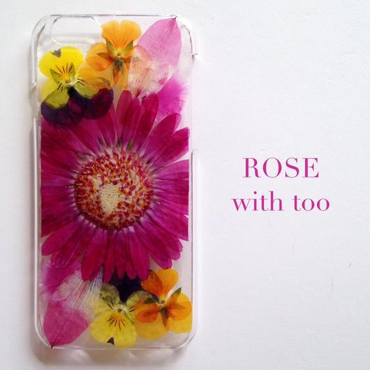 iPhone6/6s用 フラワーアートケース 押し花デザイン 1026_4