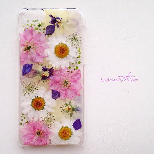 iPhone6用 フラワーアートケース 押し花デザイン0202_6