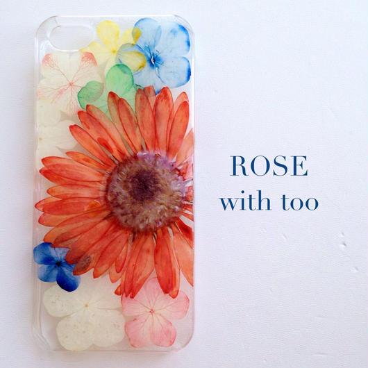 iPhone5/5s用 フラワーアートケース 押し花デザイン 0909_1