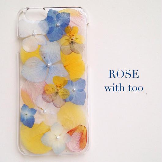 iPhone6用 フラワーアートケース 押し花デザイン 0917_1