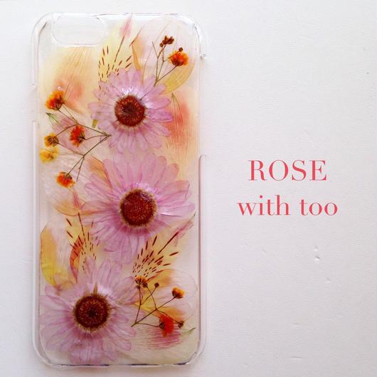 iPhone6用 フラワーアートケース 押し花デザイン 0909_3