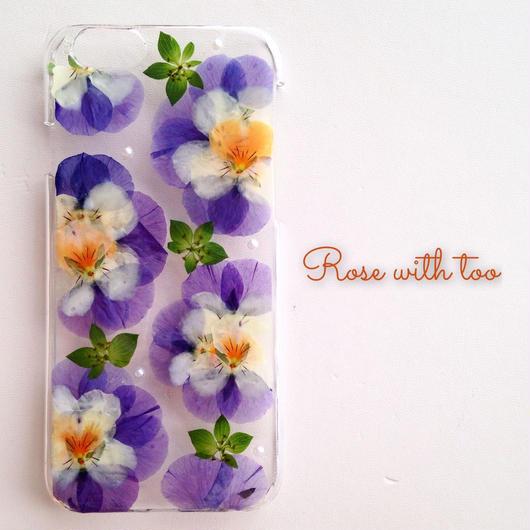 iPhone6/6s用 フラワーアートケース 押し花デザイン 1216_2