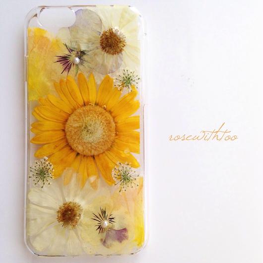 iPhone6用 フラワーアートケース 押し花デザイン 0329_5