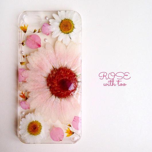 【再販】iPhone5/5s用 フラワーアートケース 押し花デザイン 1225_2