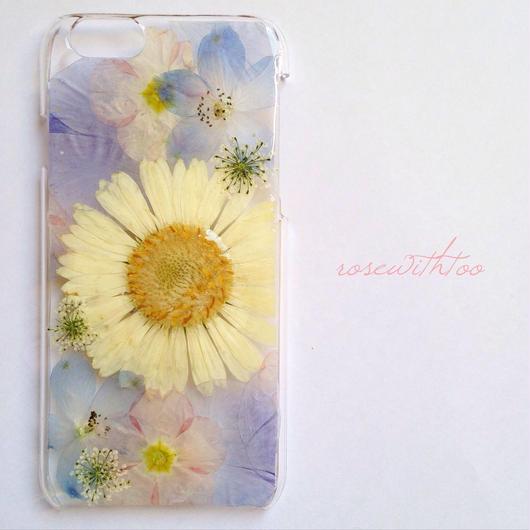iPhone6用 フラワーアートケース 押し花デザイン 0318_4