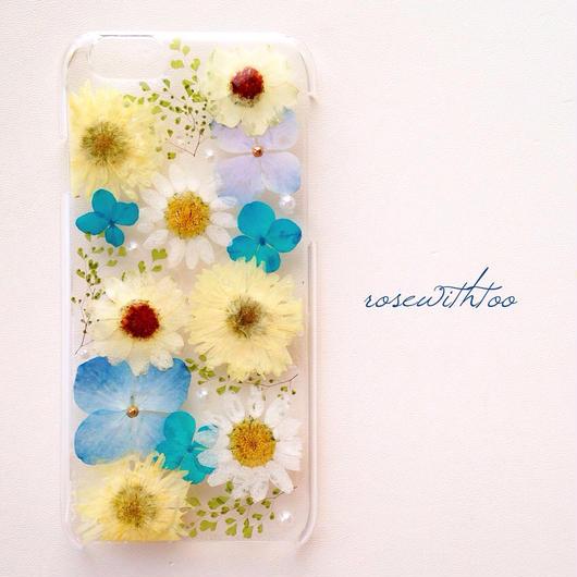 iPhone6用 フラワーアートケース 押し花デザイン0118_3