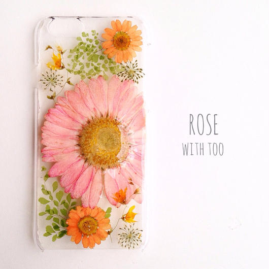 iPhone6用 フラワーアートケース 押し花デザイン1209_1