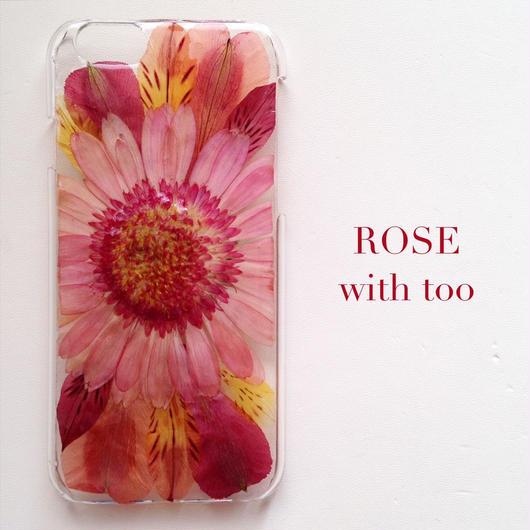 iPhone6/6s用 フラワーアートケース 押し花デザイン 1015_2