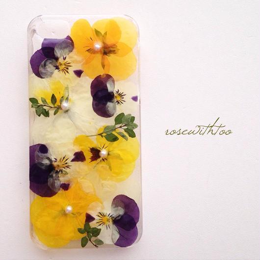 iPhone5/5s用 フラワーアートケース 押し花デザイン0216_4