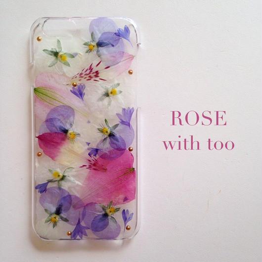 iPhone6/6s用 フラワーアートケース 押し花デザイン 1026_3