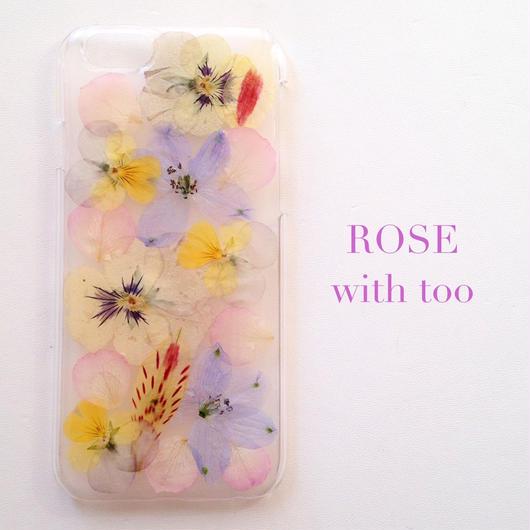 iPhone5/5s用 フラワーアートケース 押し花デザイン 0927_4