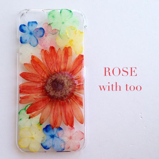 iPhone6用 フラワーアートケース 押し花デザイン 0909_4