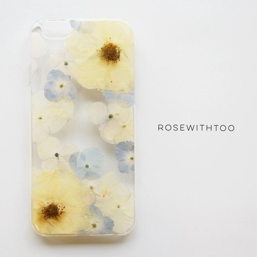 押し花iPhoneケース0827_2  white rose