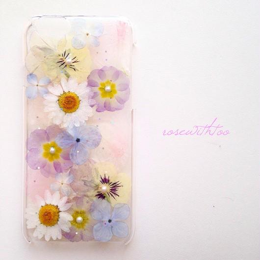 iPhone6用 フラワーアートケース 押し花デザイン0226_2