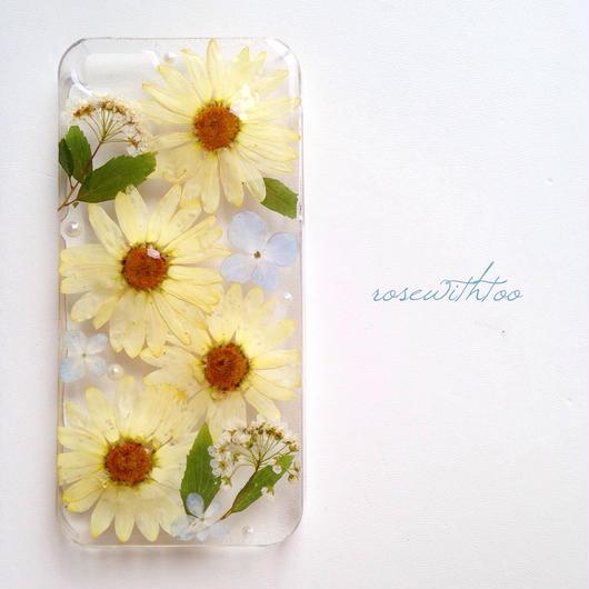 iPhone5/5s用 フラワーアートケース 押し花デザイン0308_2