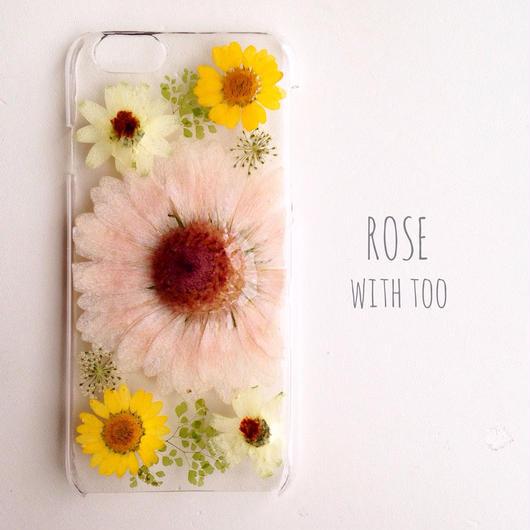iPhone6用 フラワーアートケース 押し花デザイン1209_2
