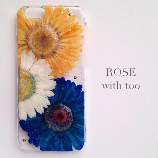 iPhone6用 フラワーアートケース 押し花デザイン 0917_4