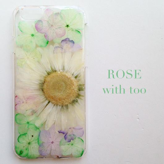 iPhone6用 フラワーアートケース 押し花デザイン 0909_1