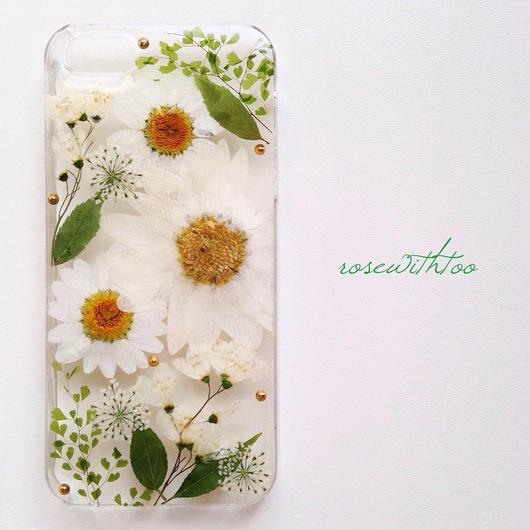 iPhone5/5s用 フラワーアートケース 押し花デザイン0308_7