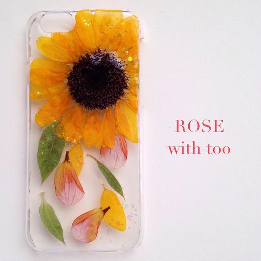 iPhone6用 フラワーアートケース 押し花デザイン 0917_5