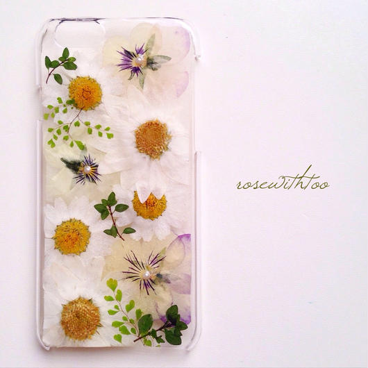 iPhone6用 フラワーアートケース 押し花デザイン0216_3