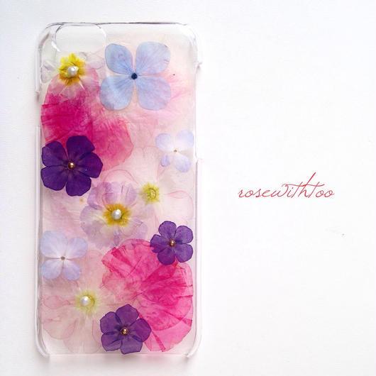 iPhone6用 フラワーアートケース 押し花デザイン0308_4