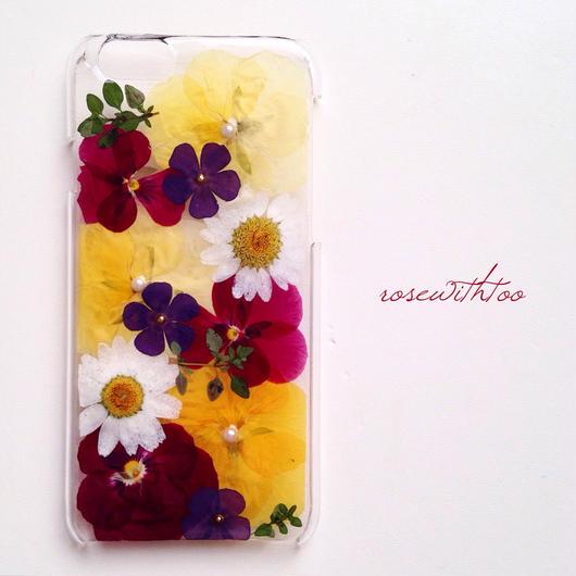 iPhone6用 フラワーアートケース 押し花デザイン0216_6
