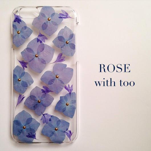 iPhone6/6s用 フラワーアートケース 押し花デザイン 0927_1 スタッズタイプ