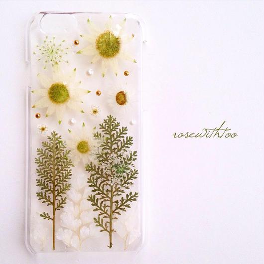iPhone6用 フラワーアートケース 押し花デザイン0117_2