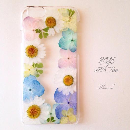 iPhone6用 フラワーアートケース 押し花デザイン1227_4