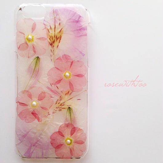 iPhone6用 フラワーアートケース 押し花デザイン 0329_6
