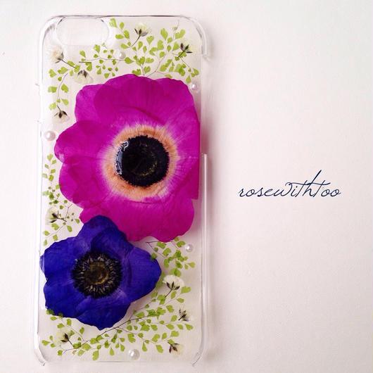 iPhone6用 フラワーアートケース 押し花デザイン0222_5