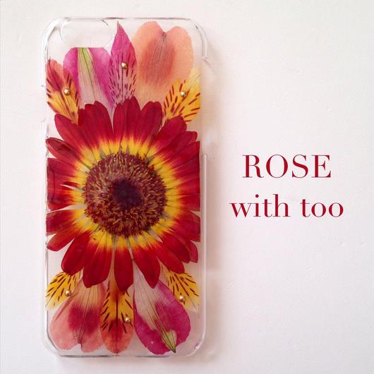 iPhone6/6s用 フラワーアートケース 押し花デザイン 1004_6