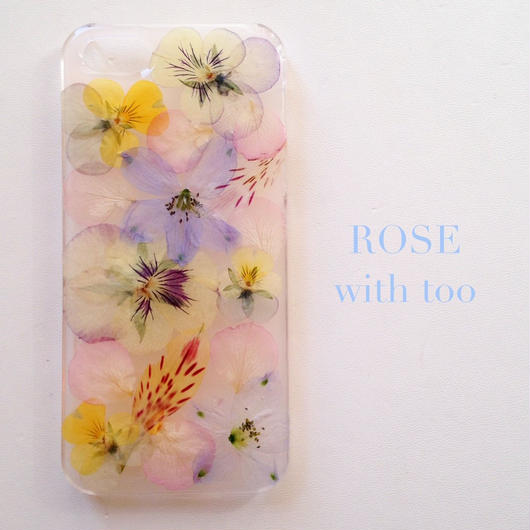 iPhone6/6s用 フラワーアートケース 押し花デザイン 0927_5