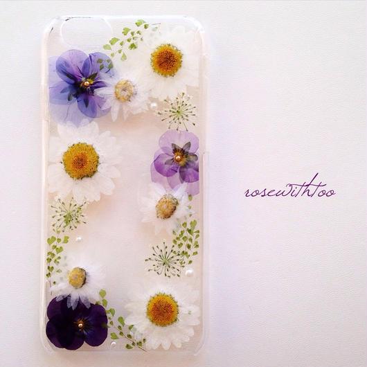 iPhone6用 フラワーアートケース 押し花デザイン0209_3