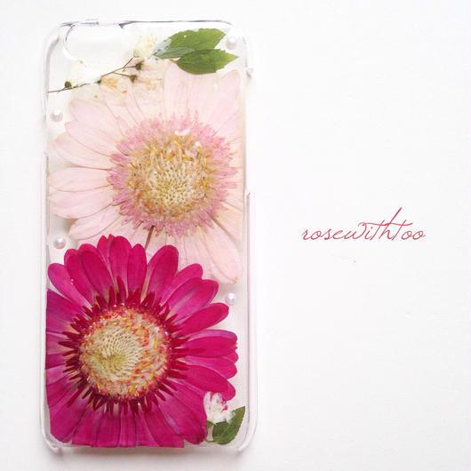 iPhone6用 フラワーアートケース 押し花デザイン0308_3