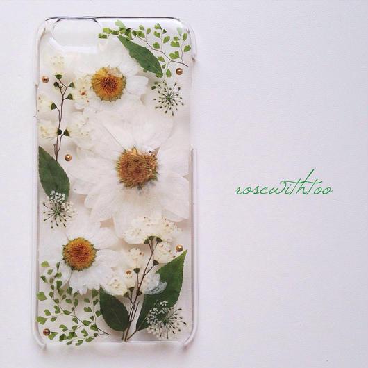 iPhone6用 フラワーアートケース 押し花デザイン0308_6