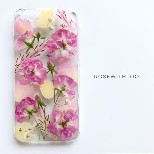 【再販】押し花iPhoneケース 0716_9 rose