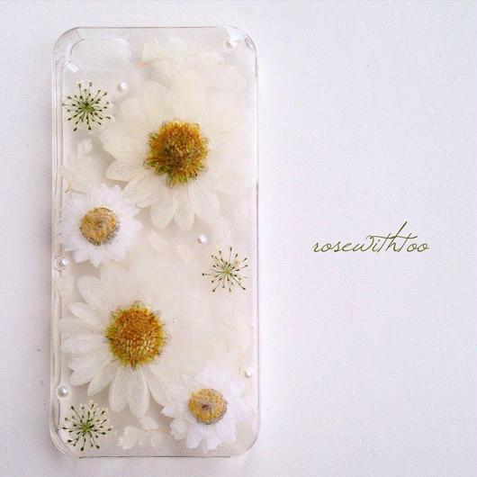 【再販】iPhone5/5s用 フラワーアートケース 押し花デザイン0125_8